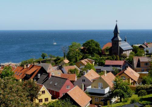 Gudhjem village, Bornholm (red)