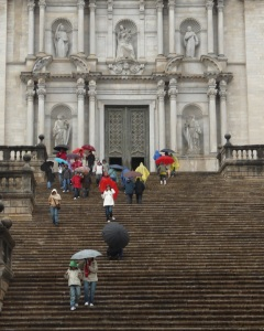 Girona Cathedral steps