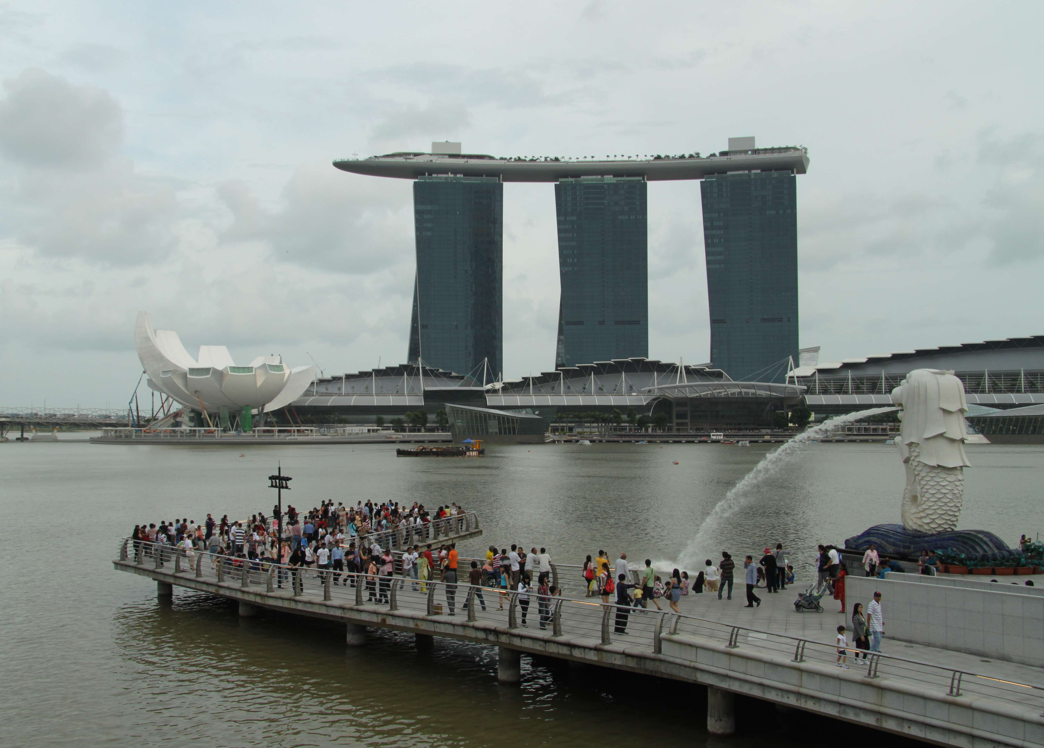 In a city full of fine dining, shopping and hotels, the new Marina Bay ...