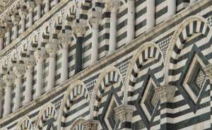 Detail of the side of a Pistoia church