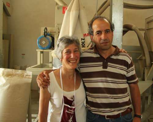 Heather took us to see Paolo and check out his farro mill.