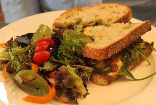 Salad with wild bush tucker