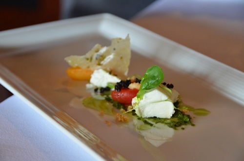 Goat's cheese and pretty presentation. Photo: Kate Nulty.