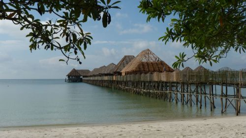 Telunas Beach Resort - rustic but comfortable.