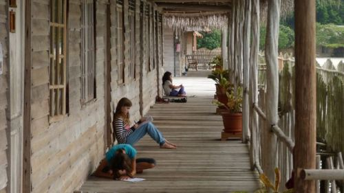 Back at Telunas, we each found a quiet place to write our stories.
