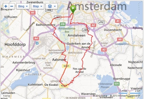 Overview of today's ride.