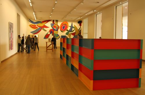 ...to the 1895 section, with Karel Appel mural.
