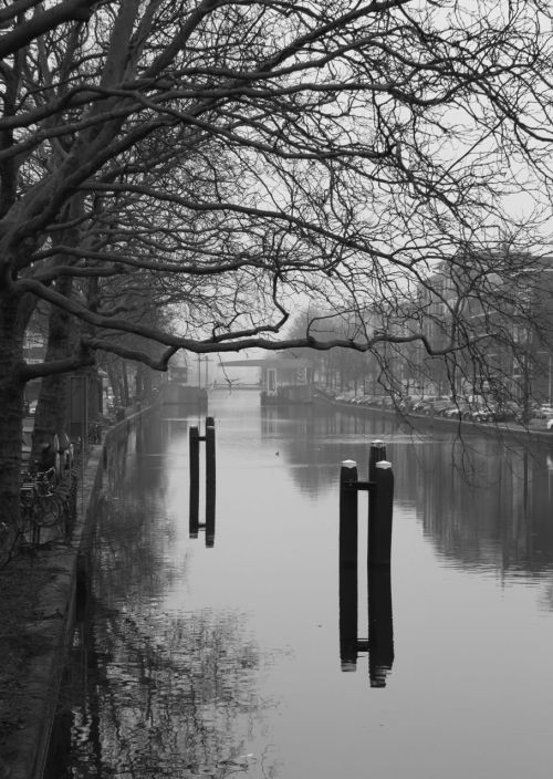 Oh dear, it is cold out on the Schinkel Canal!