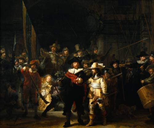 Rembrandt's Nightwatch. Image, Wikimedia Commons.