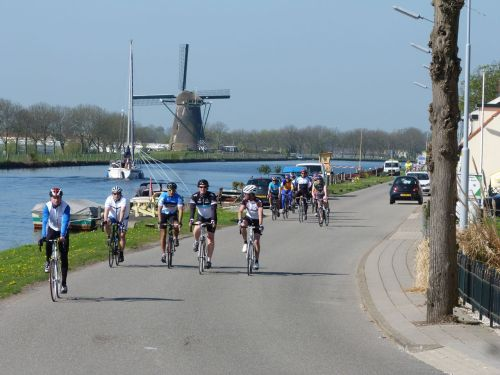 Of course there are windmills along the route.