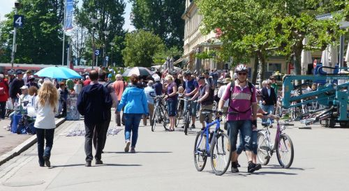 Thousands of others following our route roll into Lindau each day.