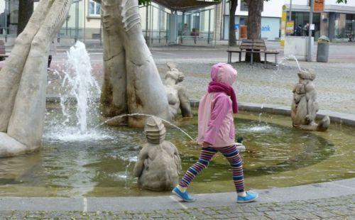 Peter Lenk's fountain.