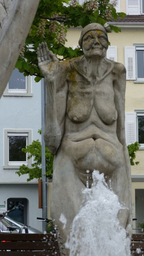 Detail of Peter Lenk's fountain. I wonder what the story is?