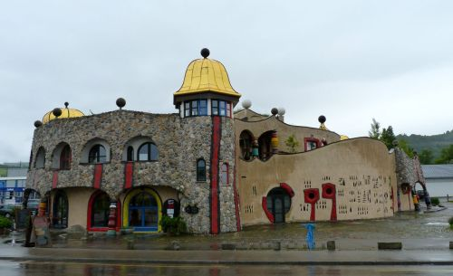 If I'd taken the train, I would have missed the rain, but also this work by Hundertwasser.