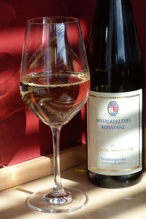 ...a celebratory glass of local wine.