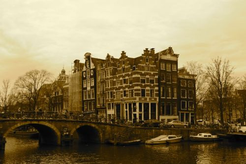 Amsterdam's most beautiful corner - the Brouwersgracht and the Prinsengracht.