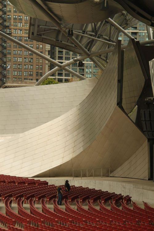 Jay Pritzker Pavilion, Chicago.