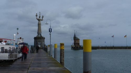 Konstanz Harbour. You can't miss the revolving lady.
