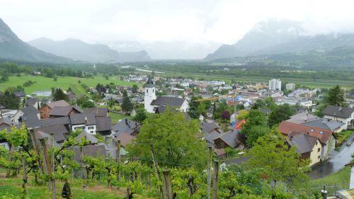 Vaduz must look spectacular on a good day.