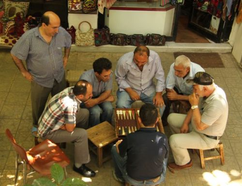 Time out for a game of backgammon