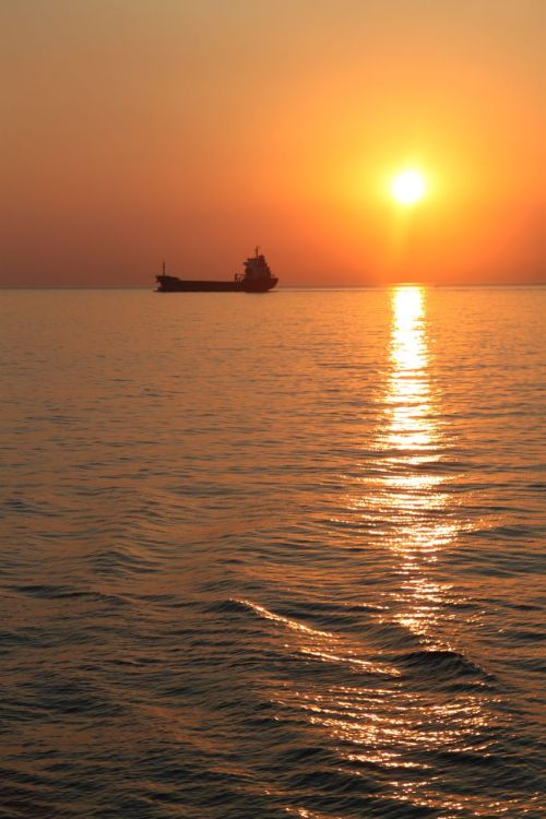 Dawn on the Black Sea.