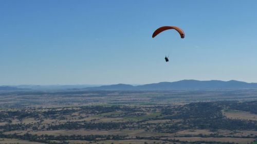 The wind whips up the escarpment, making it one of the world's best paragliding spots.
