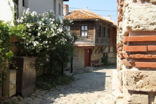 There are still some quiet areas, with traditional wooden houses.