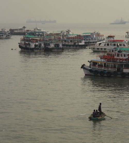 Ferries outside Colaba.