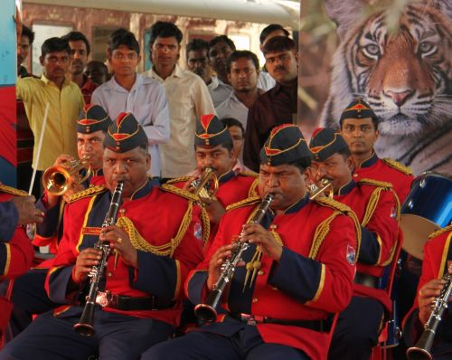 The Mumbai Police Band. We hope they're better at catching bad guys.