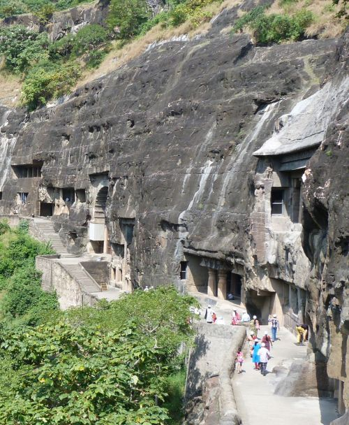 The Ajanta Caves.