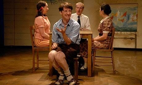 Alison Bell, Matthew Whittet, Peter Carroll and Claire Jones in The Book of Everything. Photo: Heidrun Lohr.