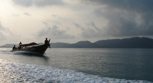 The pancung boat to Telunas Beach
