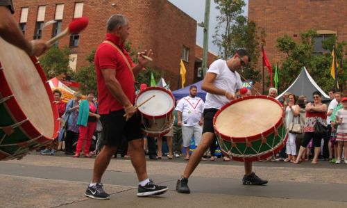 Drumming for Portugal.