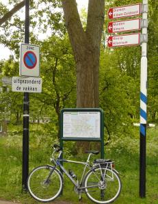 You can usually rely on bike maps and signs like this along the way.