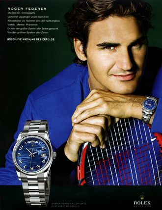 Roger and his Rolex.