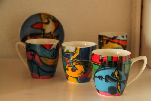 Coffee cups - design by Corneille.