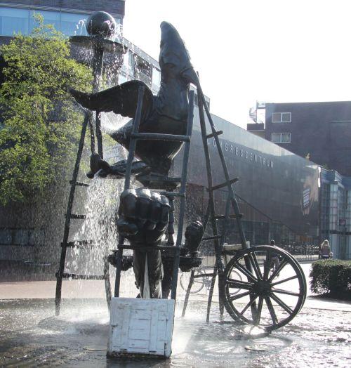 Karel Appel's playful sculpture outside the Cobra Museum, Amstelveen.