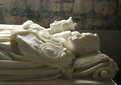 The last Duke of Argyll willed the island to the nation. Here's the seventh duke and his wife lying in state.