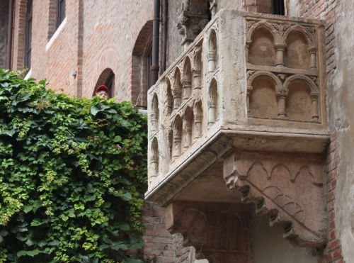 Believe it or not, this the the REAL balcony, the ACTUAL place where Juliet REALLY said 'Wherefore art thou Romeo?'