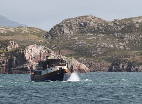A bit of chop in the Sound of Iona.