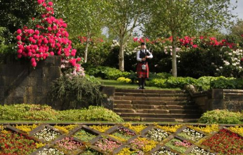 We can't guarantee that the rhododendrons will always be blooming and that a piper will always be playing for a wedding.