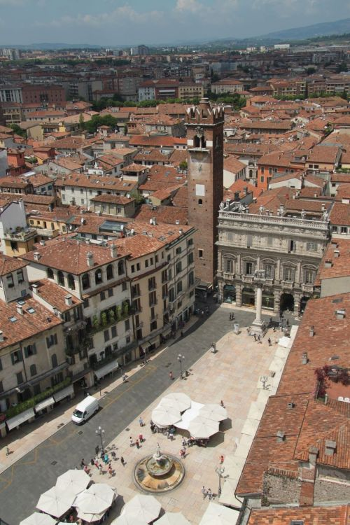 Of course where there's a tower, you have to climb it. This is the view from the top of the Tower of Lamberto.