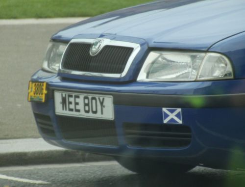 Well, maybe only in Scotland would this be a cool numberplate.