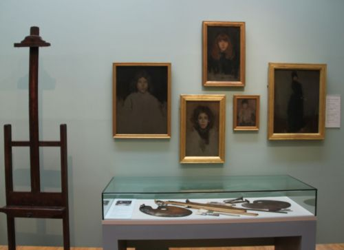 James McNeill Whistler's portraits, and his art materials, in the Hunterian Gallery.