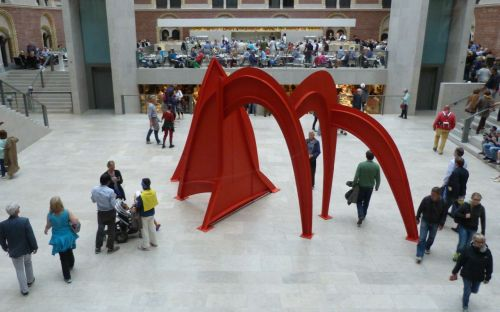 The entrance to the remodelled Rijksmuseum is worth a visit on its own, with Mr Calder as a bonus.