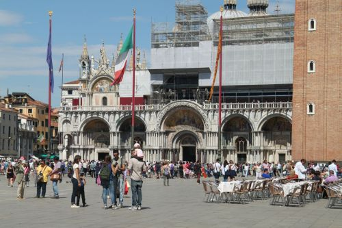 St Mark's Square, Venice, is one of the most famous  places in the world.