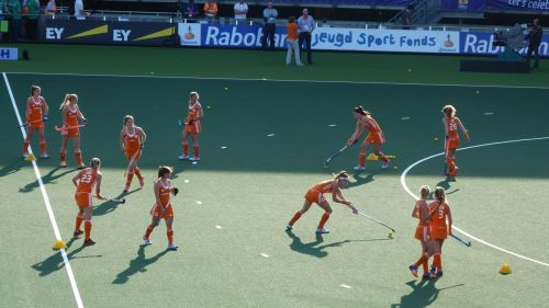 ...the Dutch girls, who look awesomely strong in a 4-0 win over Argentina.