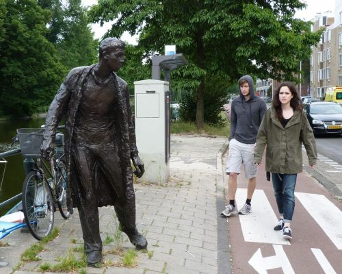 """One of Peter Erftemeijer's   """"Three figures in the the street""""."""