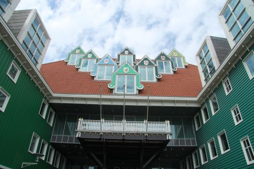 The gable of the Zaandam Stadhuis (Town Hall) enters into the playful spirit of things.