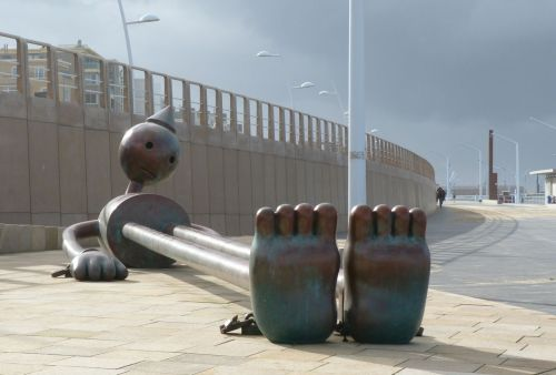 Tom Otterness's sculptures take pride of place by the esplanade in Scheveningen, near The Hague in the Netherlands.